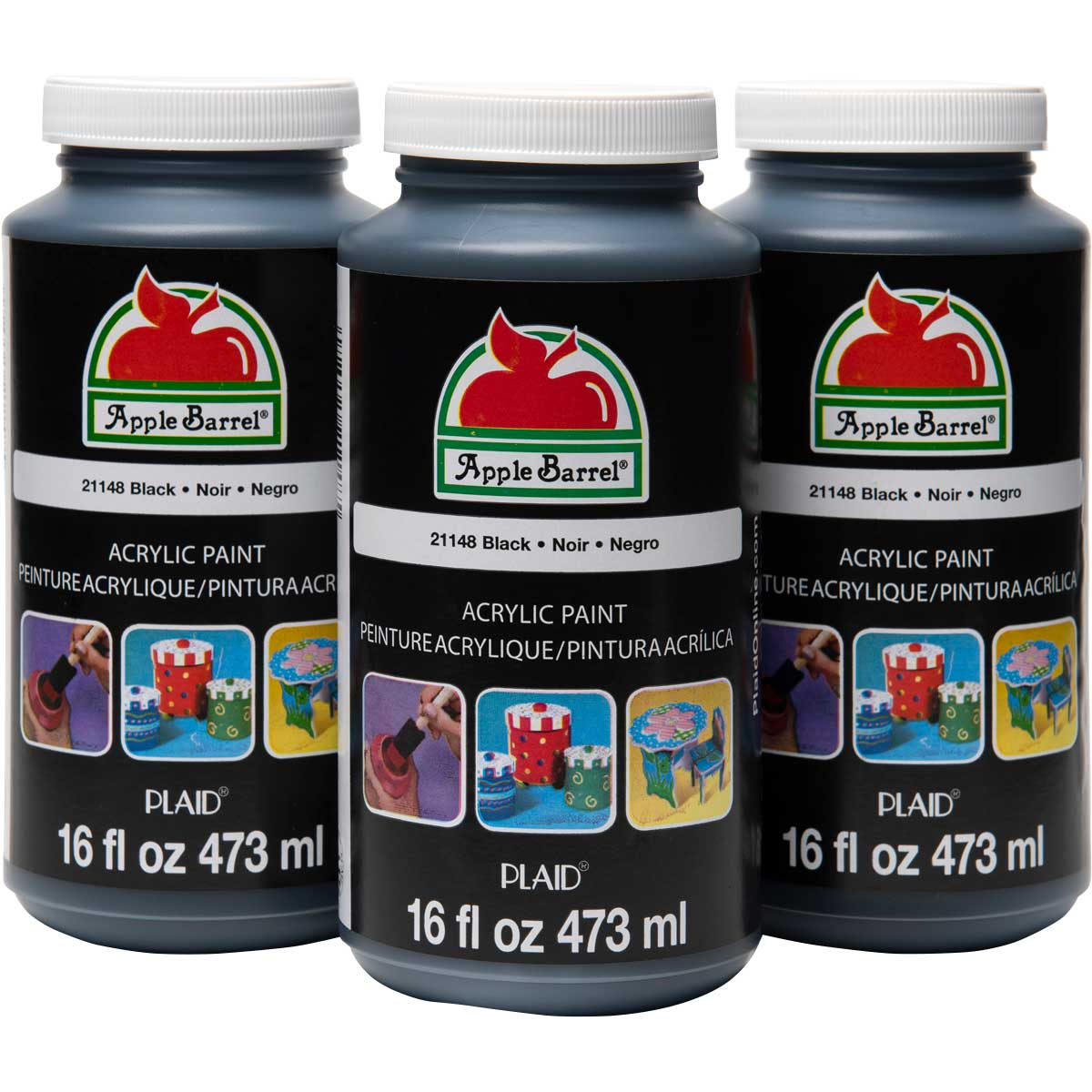 Apple Barrel ® Colors Acrylic Paint Bundle - Black, 16 oz.