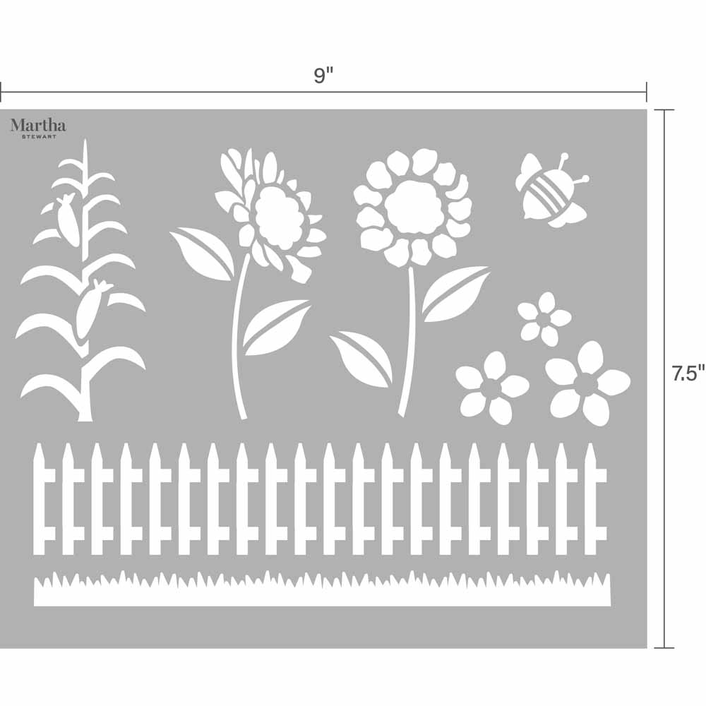 Martha Stewart® Adhesive Paper Stencils - Farm and Animals