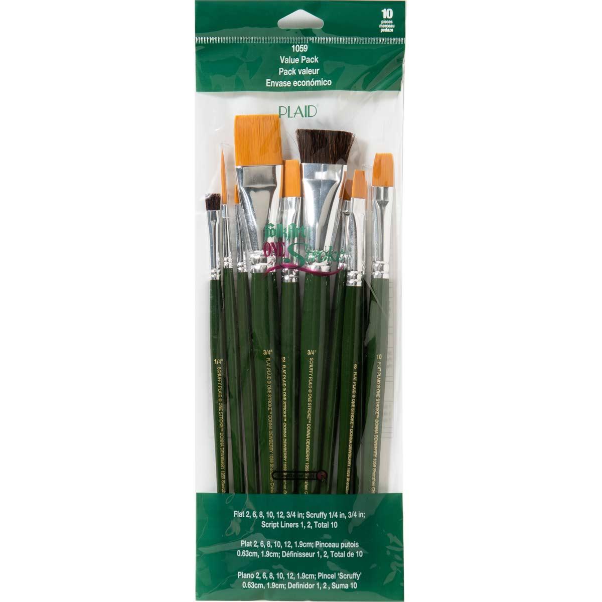 FolkArt ® One Stroke™ Brushes - Brush Sets - Value Pack