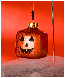 Jack-o-Lantern Extreme Glitter Ornament
