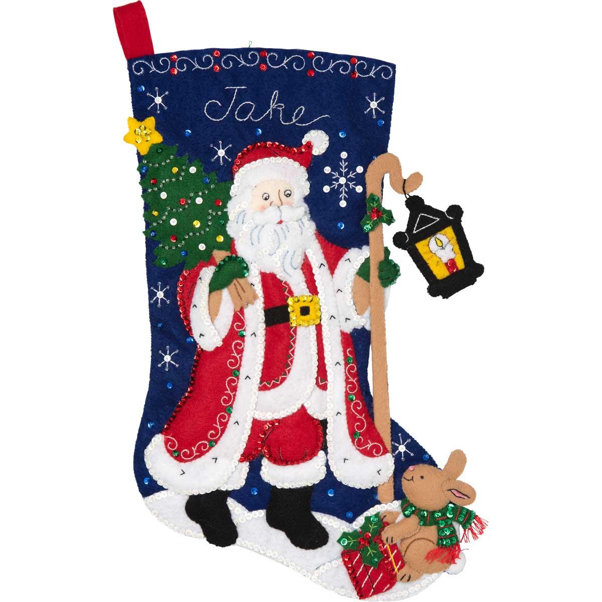 Bucilla ® Seasonal - Felt - Stocking Kits - Santa with Lantern