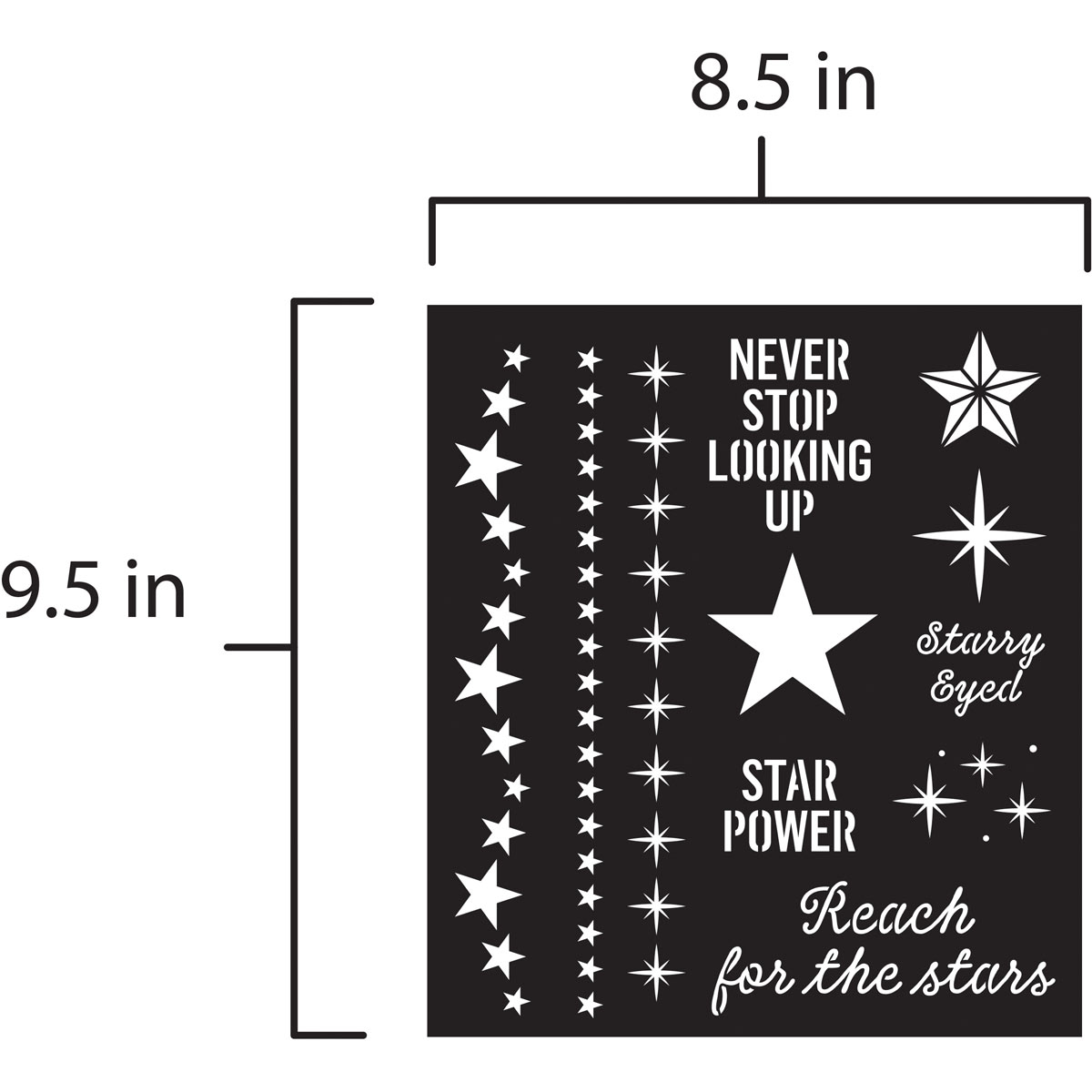 FolkArt ® Laser Cut Adhesive Stencils - Stars - 39248