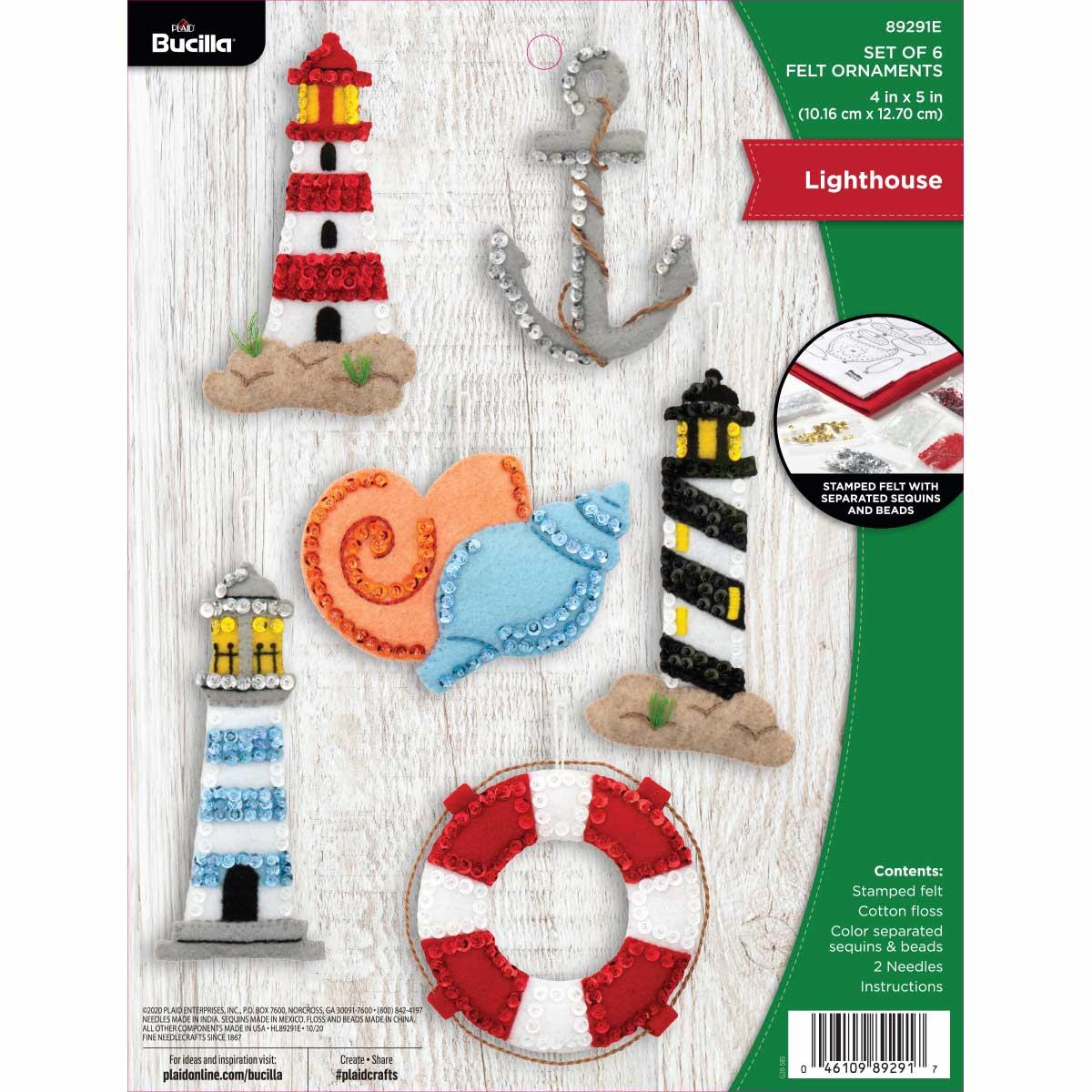 Bucilla ® Seasonal - Felt - Ornament Kits - Lighthouse - 89291E