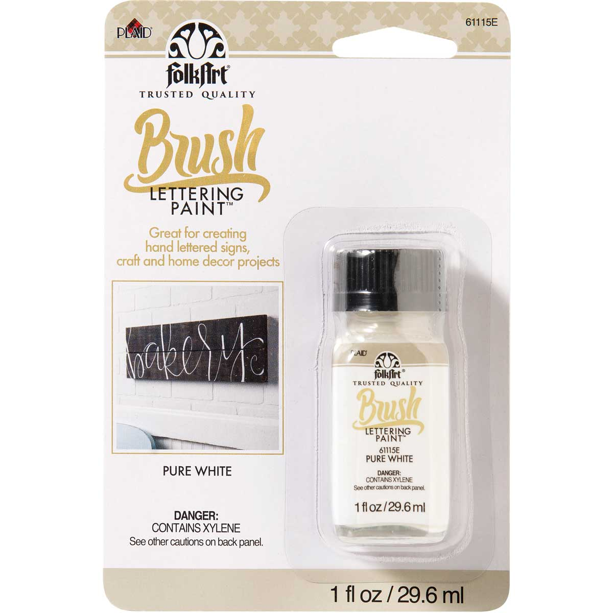 FolkArt ® Brush Lettering Paint - Pure White, 1 oz.