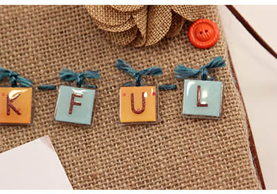 Thankful Fall Burlap Art with Mod Podge