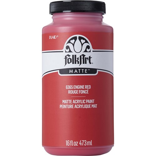 FolkArt ® Acrylic Colors - Engine Red, 16 oz. - 6365
