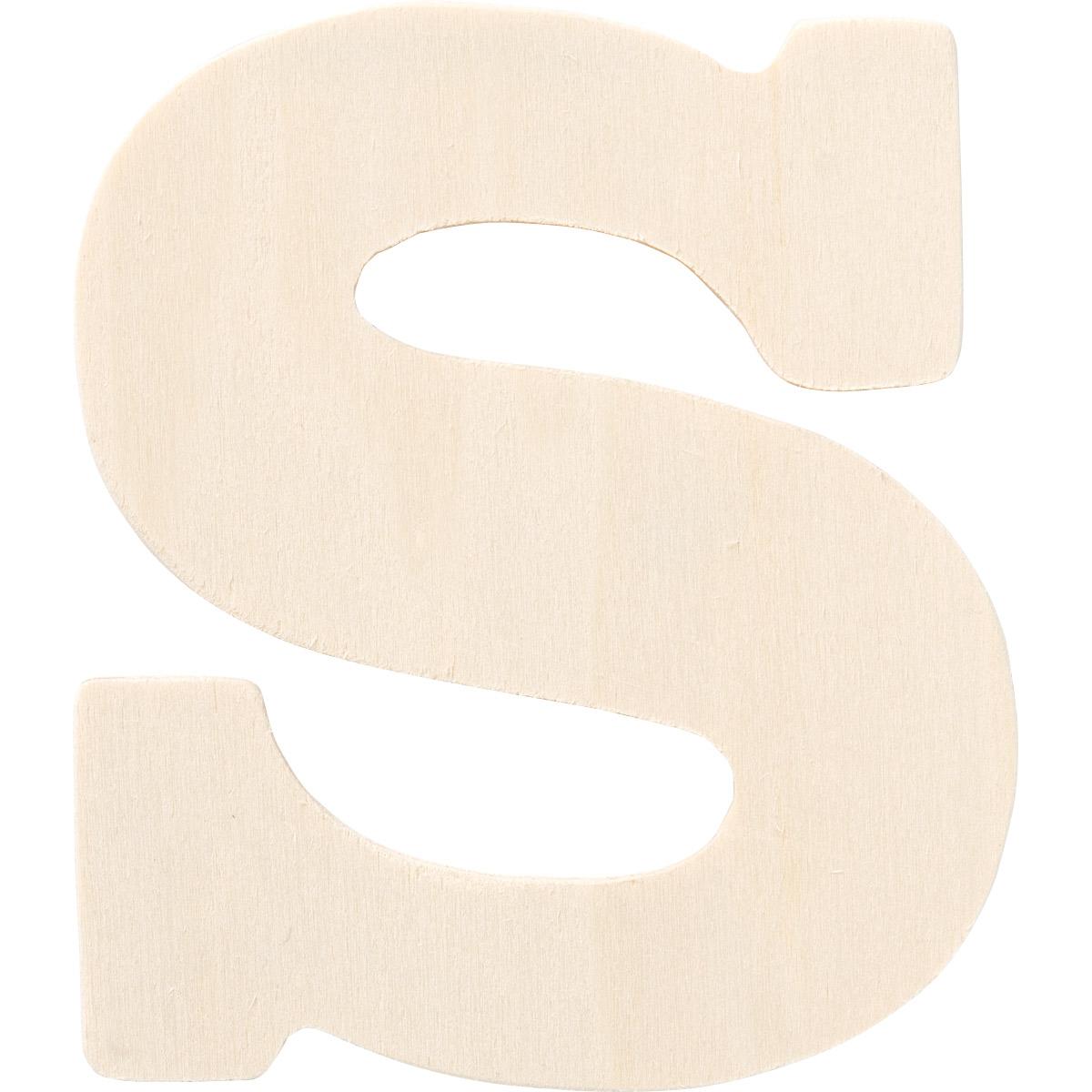 Plaid ® Painter's Palette™ Wood Letter - S. 4 inch