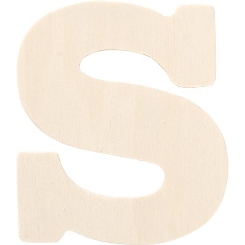 Plaid ® Painter's Palette™ Wood Letter - S. 4 inch - 23882