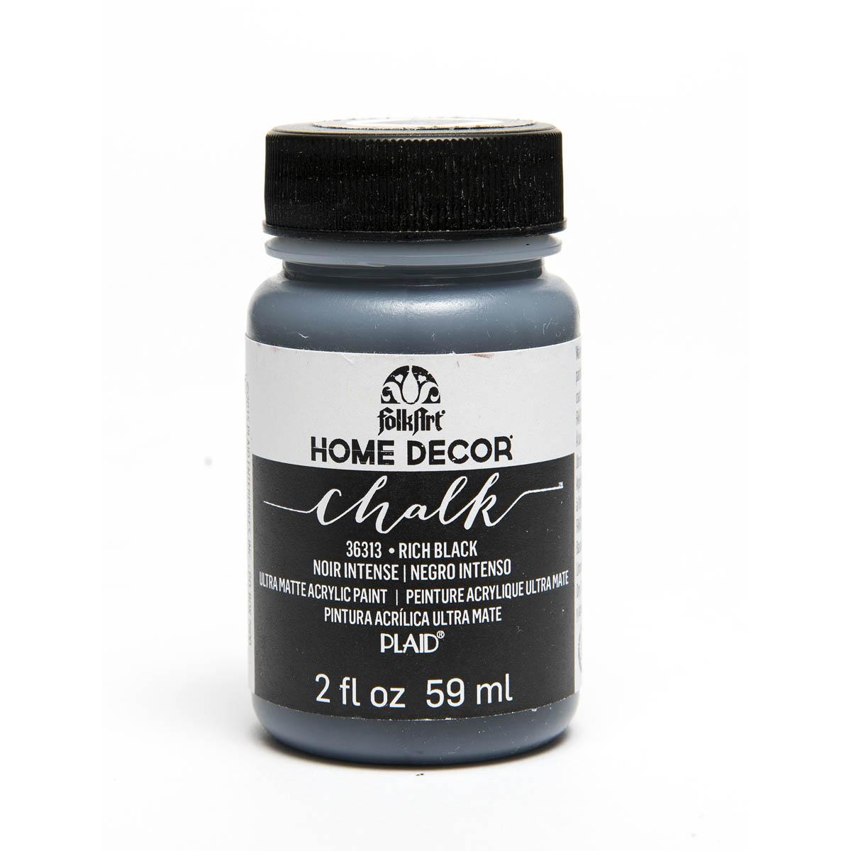 FolkArt ® Home Decor™ Chalk - Rich Black, 2 oz. - 36313