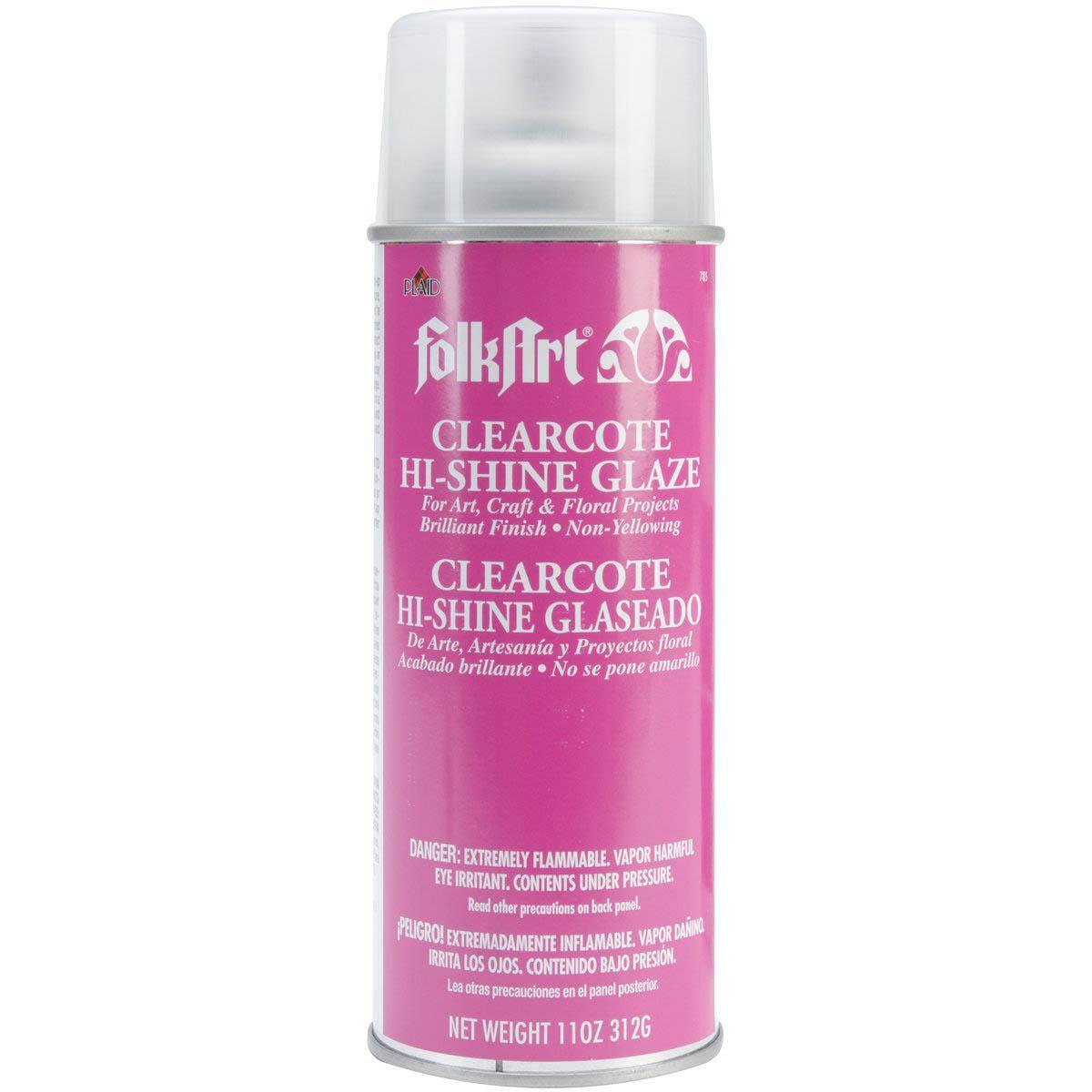 FolkArt ® Finishes - Clearcote™ Aerosol Glaze - Hi-Shine Deep Gloss, 11 oz.