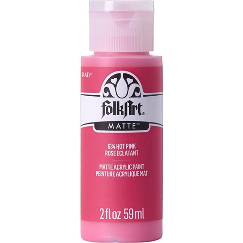 FolkArt ® Acrylic Colors - Hot Pink, 2 oz. - 634