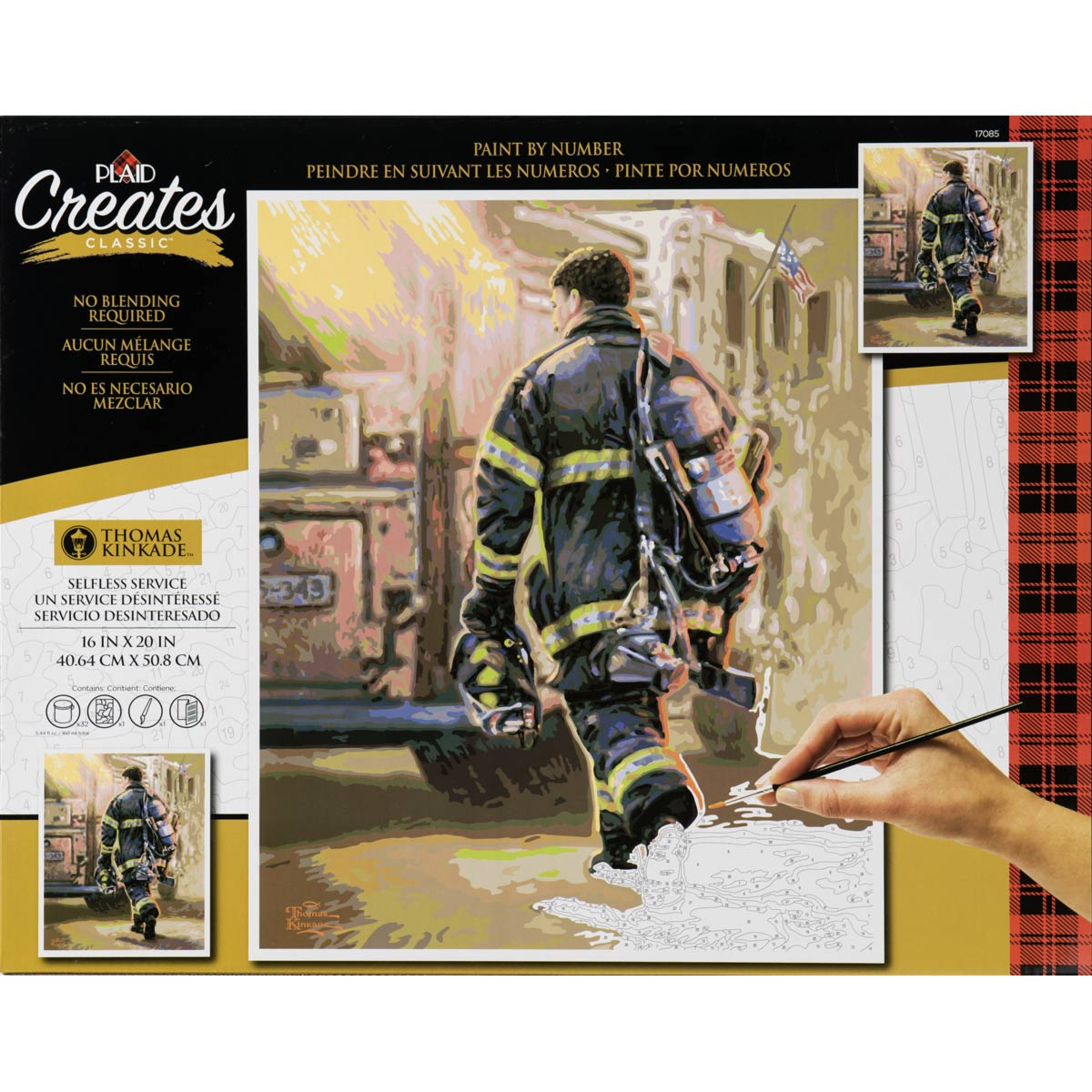 Plaid ® Paint by Number - Thomas Kinkade™ - Selfless Service