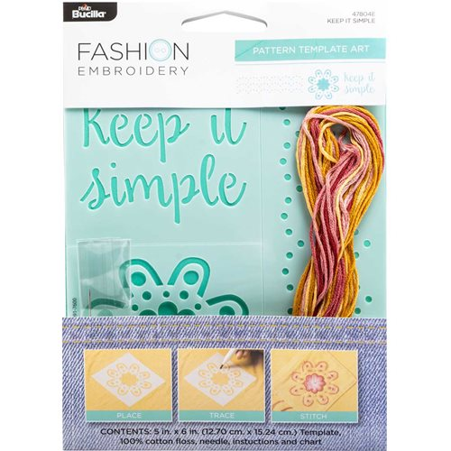 Bucilla ® Fashion Embroidery Kit - Keep It Simple