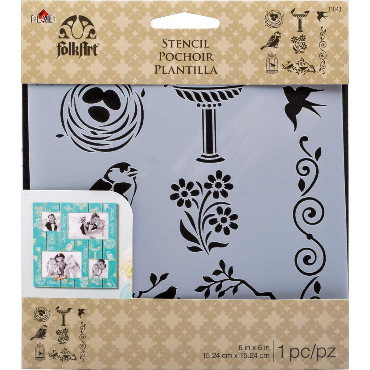 Shop Plaid Folkart Painting Stencils Small Birds 31043 31043 Plaid Online