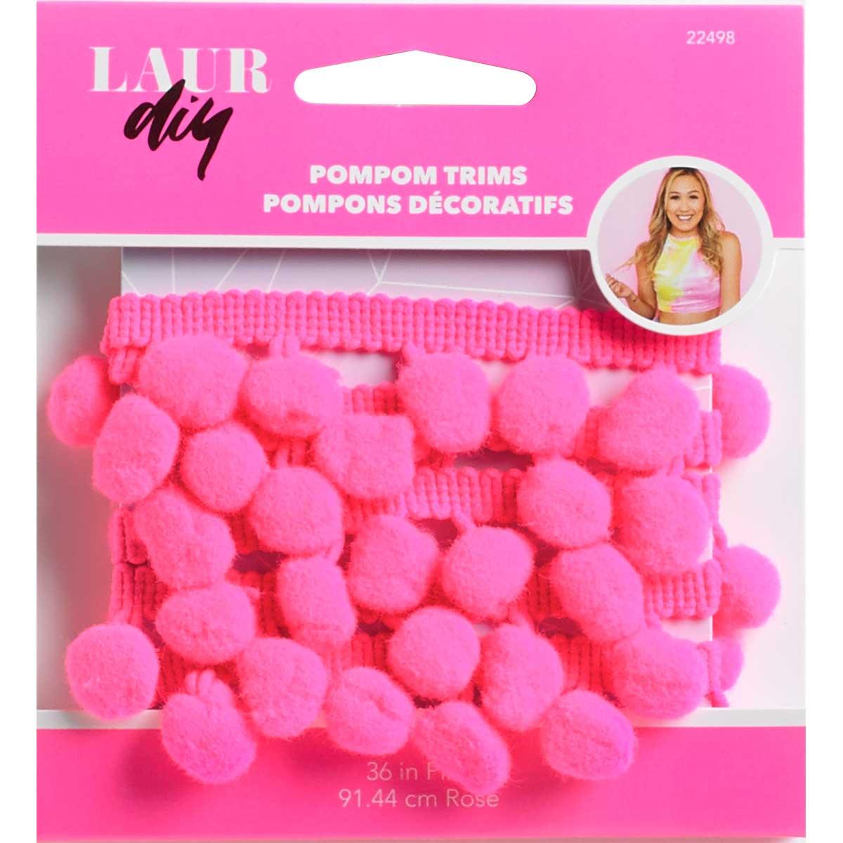 LaurDIY ® Pompom Trims - Pink