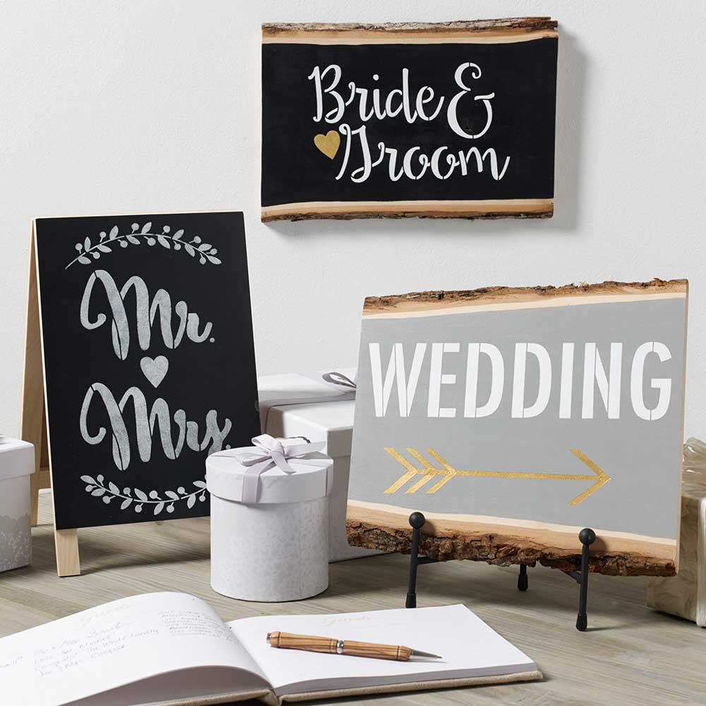 FolkArt ® Painting Stencils - Sign Making - Wedding