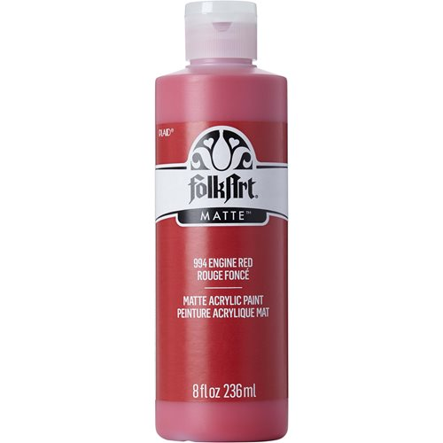 FolkArt ® Acrylic Colors - Engine Red, 8 oz. - 994