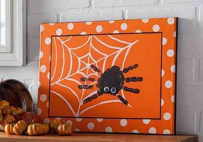 Spider Handprint Canvas