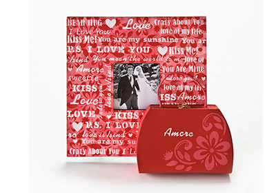 FolkArt Stencils Wedding Day Amore Frame