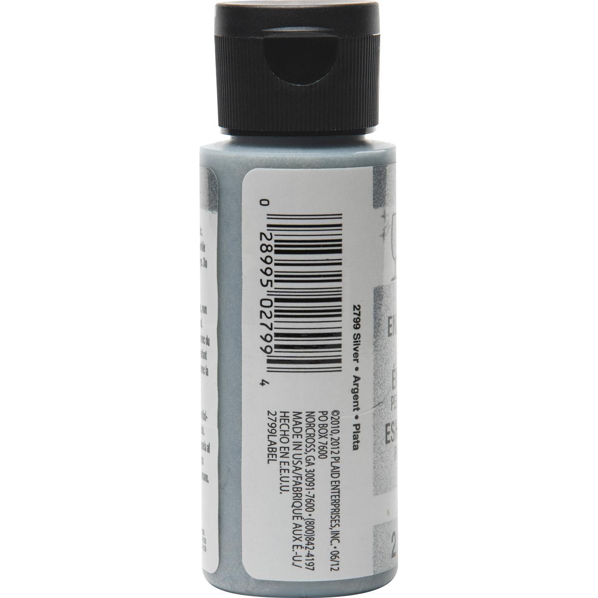 FolkArt ® Enamels™ - Glitter Silver, 2 oz. - 2799