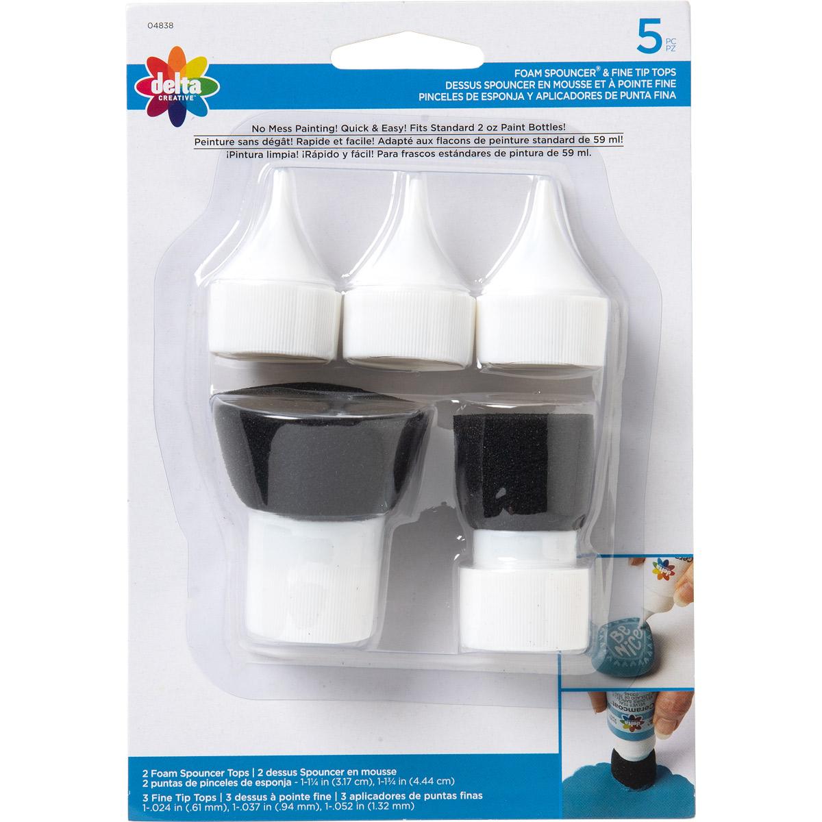 Delta Ceramcoat ® Tool Set - Fine Tip / Spouncer Combo Set, 5 pc.