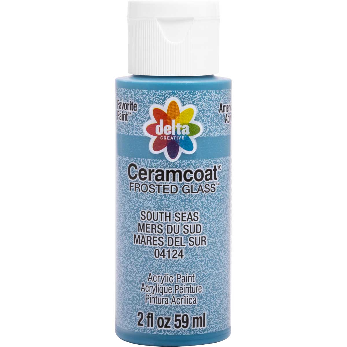 Delta Ceramcoat ® Frosted Glass Paint - South Seas, 2 oz.