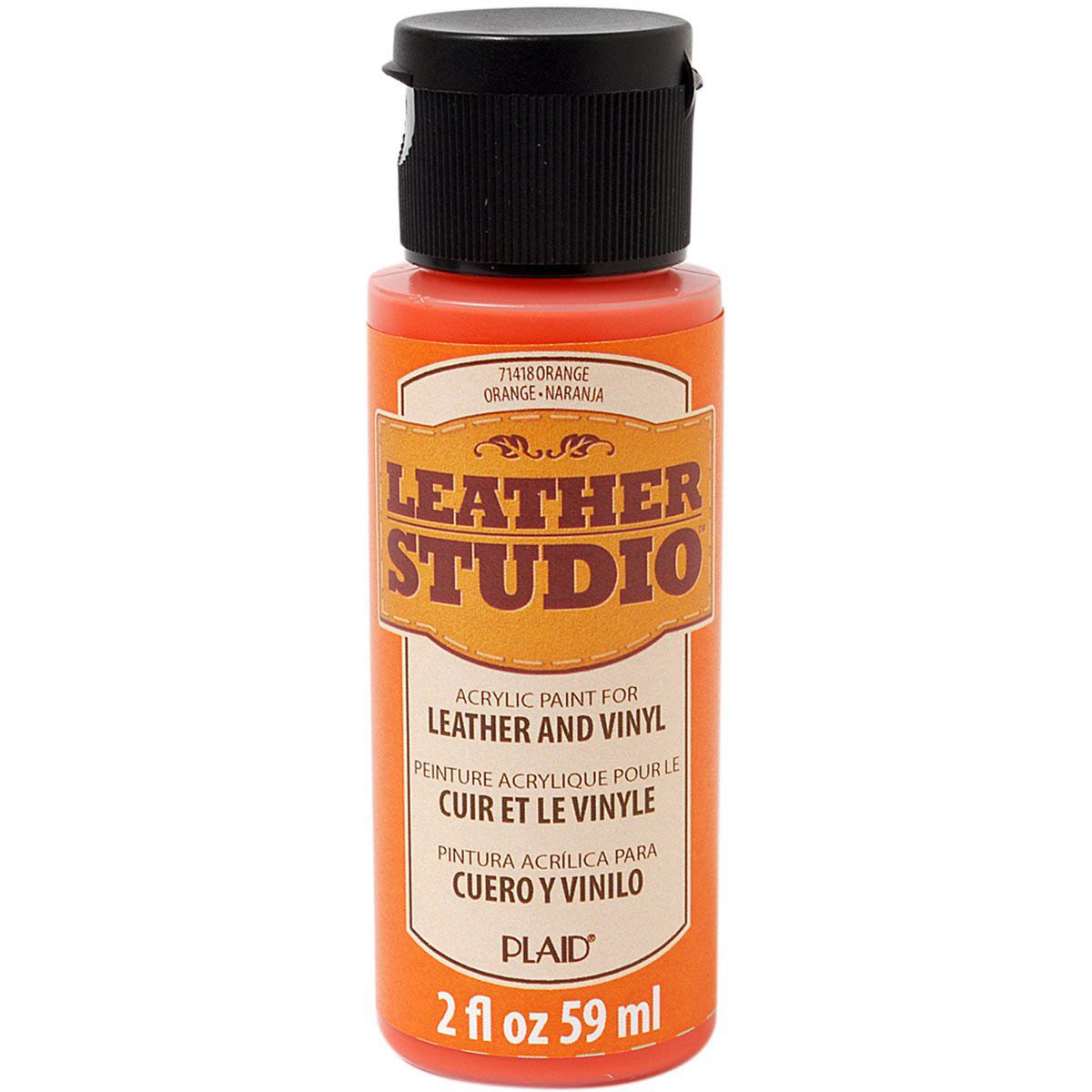 Leather Studio™ Leather & Vinyl Paint Colors - Orange, 2 oz. - 71418