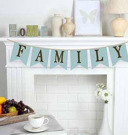 Family Pennant Banner