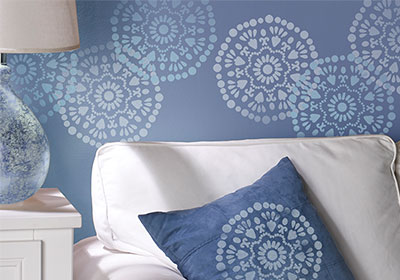 Stenciled Wall Art Idea
