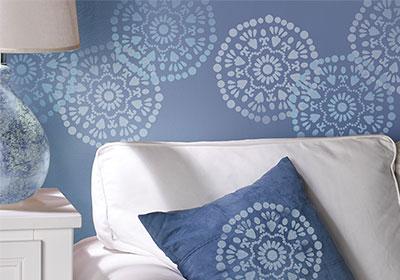 Stenciled Wall Art Idea