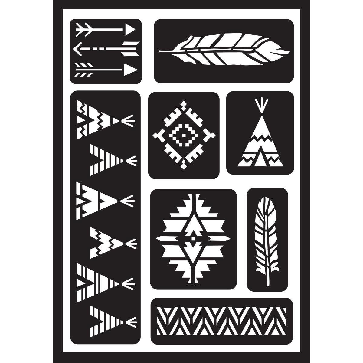 FolkArt ® Peel & Stick Painting Stencils - Tribal