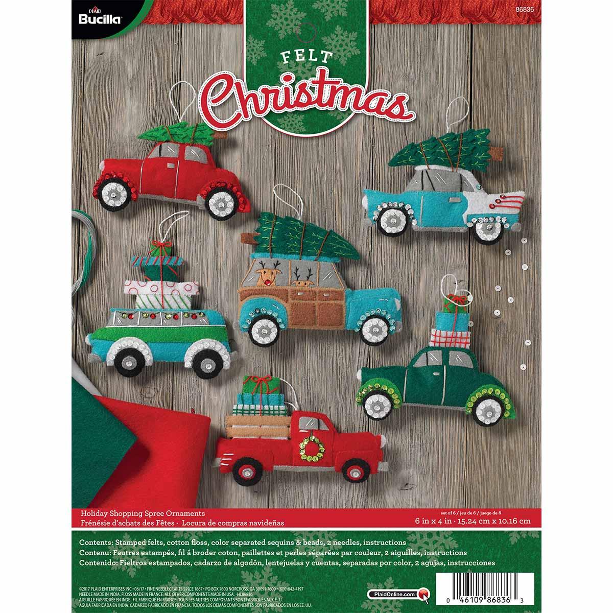 Bucilla ® Seasonal - Felt - Ornament Kits - Holiday Shopping Spree - 86836