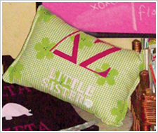 'Little Sister' Sorority Accent Pillow