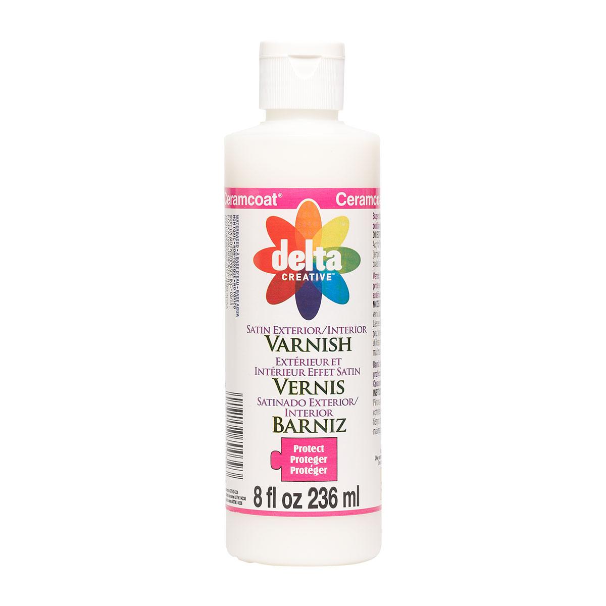 Delta Ceramcoat ® Varnishes - Exterior/Interior - Satin, 8 oz. - 070038