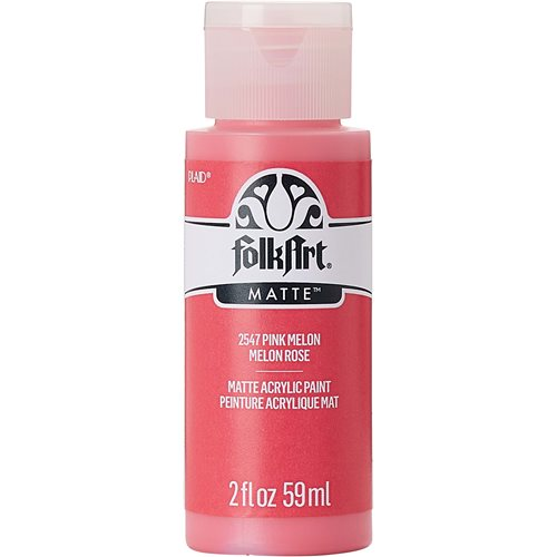 FolkArt ® Acrylic Colors - Pink Melon, 2 oz. - 2547