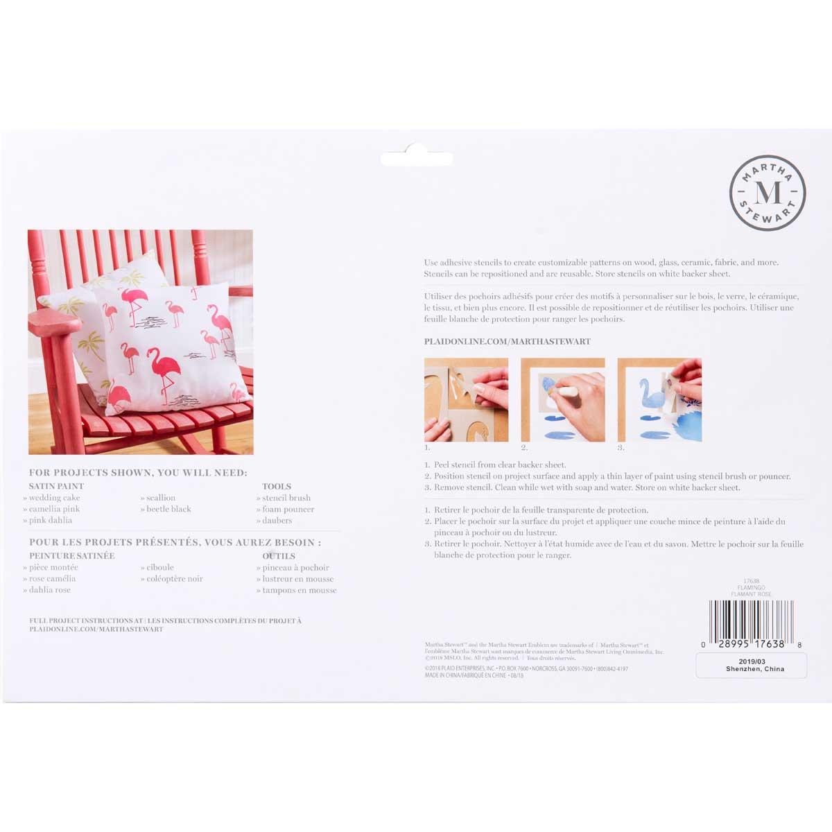Martha Stewart® Adhesive Stencil - Flamingo