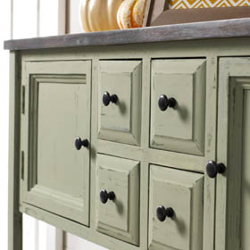 Painted Buffet Table with Chalk Finish