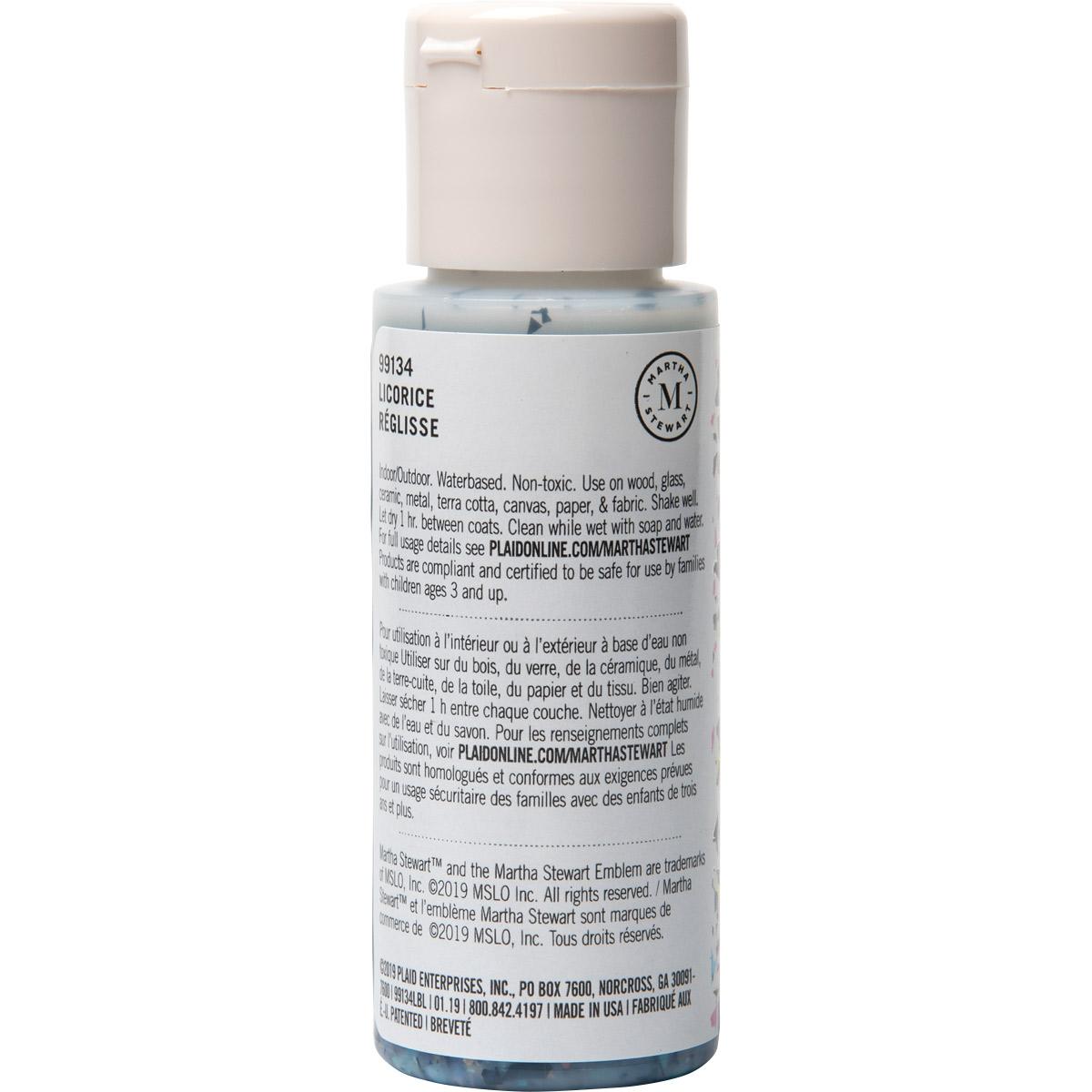 Martha Stewart ® Multi-Surface Vintage Leaf Glitter Acrylic Craft Paint CPSIA - Licorice, 2 oz. - 99