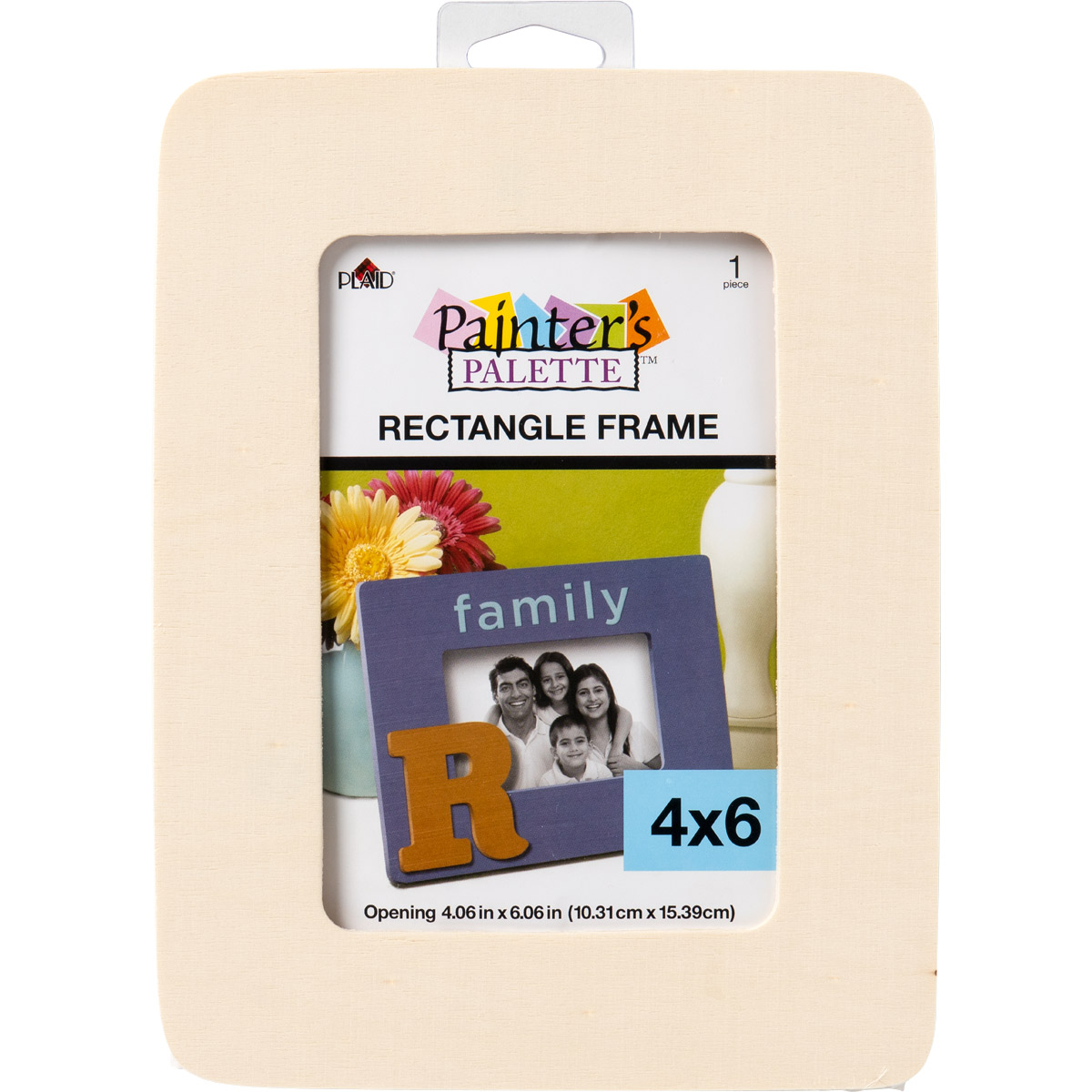 Plaid ® Painter's Palette™ Wood Value Frame - Rectangle, 4 x 6 Opening - 23249