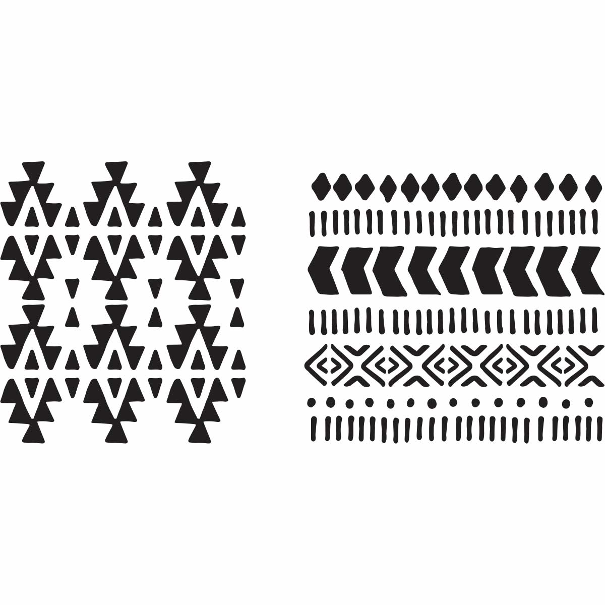 Fabric Creations™ Adhesive Stencils - Aztec, 6
