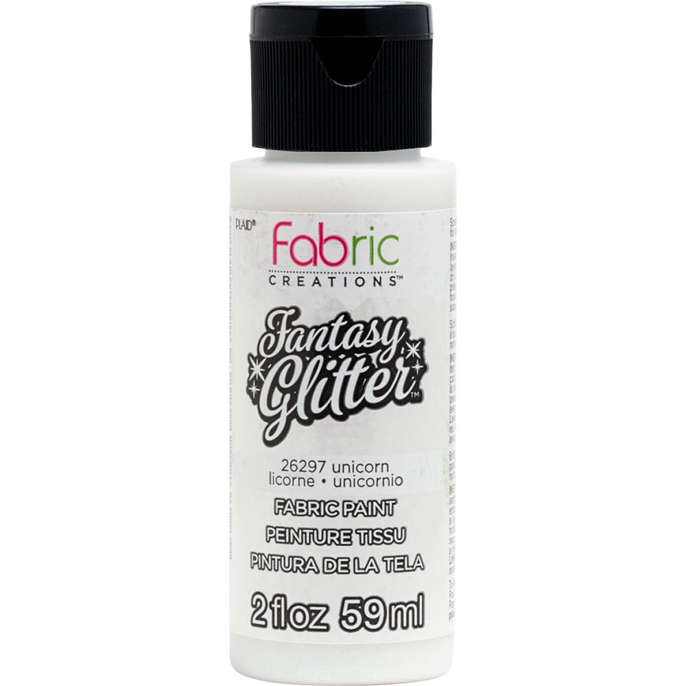 Fabric Creations™ Fantasy Glitter™ Fabric Paint - Unicorn, 2 oz.
