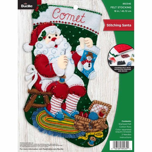 Bucilla ® Seasonal - Felt - Stocking Kits - Stitching Santa - 89234E