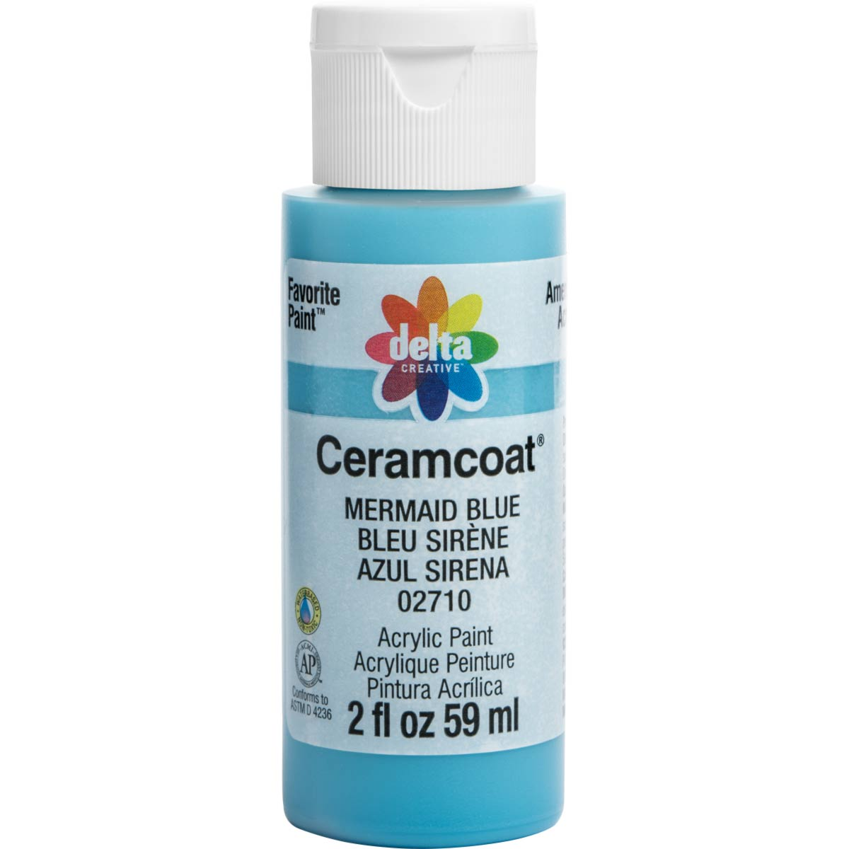 Delta Ceramcoat ® Acrylic Paint - Mermaid Blue, 2 oz. - 02710