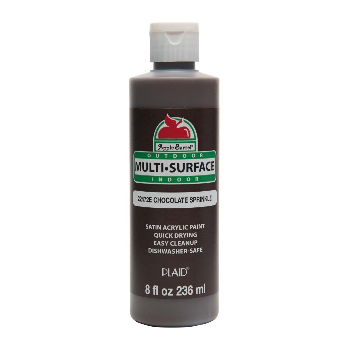 Apple Barrel ® Multi-Surface Satin Acrylic Paints - Chocolate Sprinkle, 8 oz. - 22472E