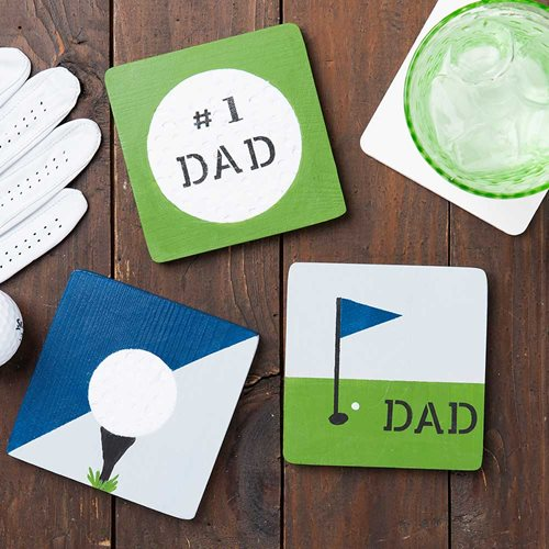 DIY Golf Coasters for Father's Day