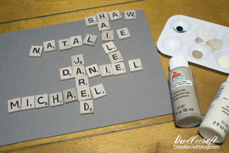 Craft Ideas for Kids - Scrabble Family Board