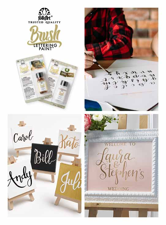 FolkArt Brush Lettering Paint