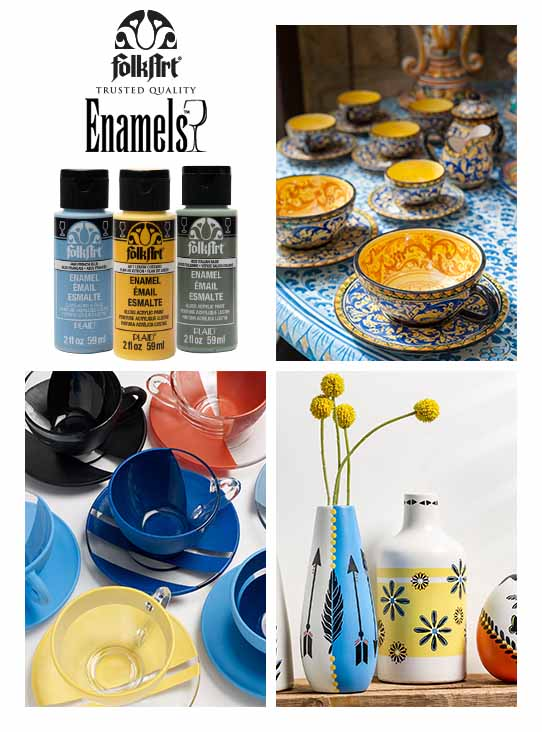 FolkArt Enamels Acrylic Paint for Glass