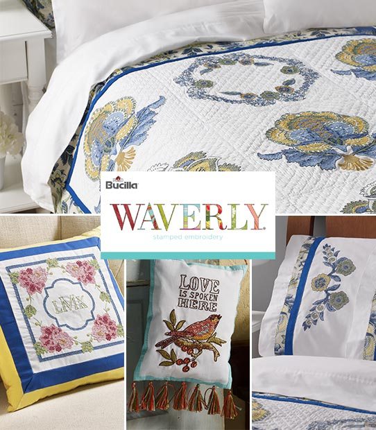 Waverly Embroidery Kits by Bucilla