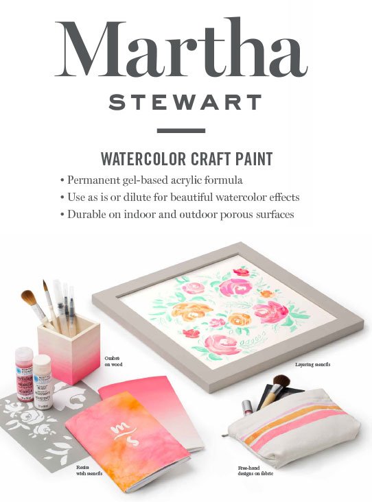 Martha Stewart Watercolor Craft Paint